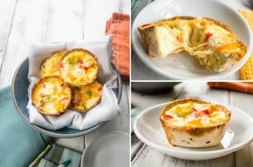 Canastitas de queso y vegetales
