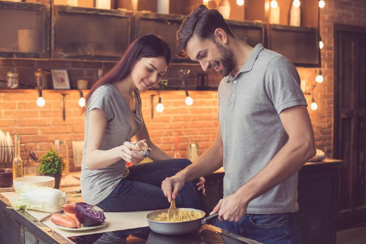 cocinar pareja