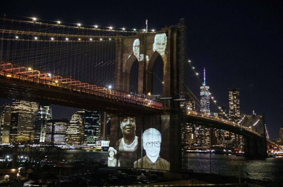 Nueva York rindió homenaje a sus 30.000 fallecidos por coronavirus