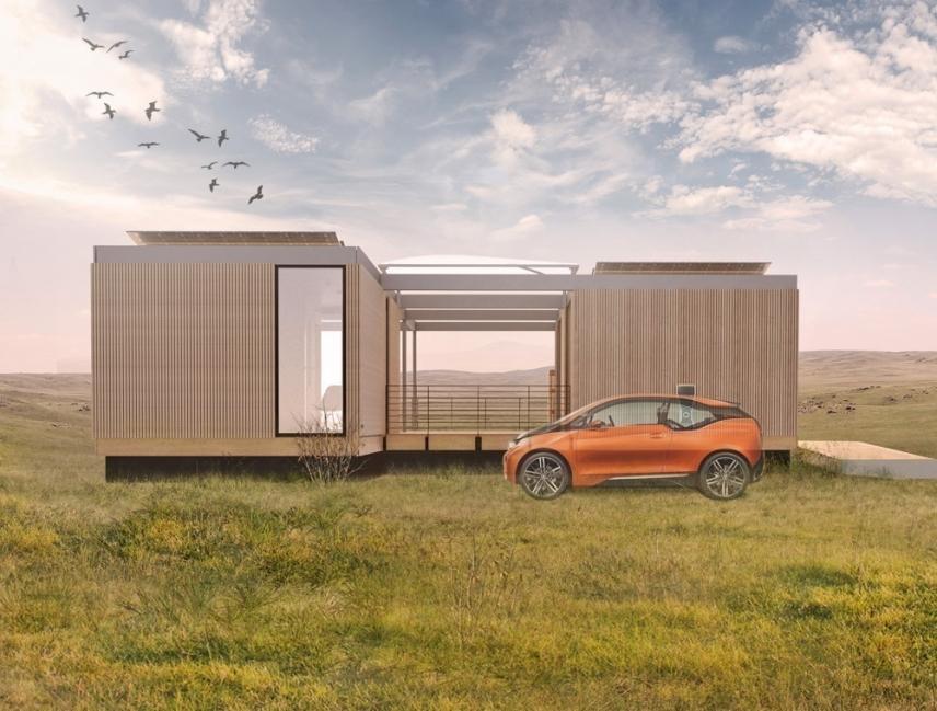 Una casa que genera su propia energía y reutiliza el agua para producir alimentos