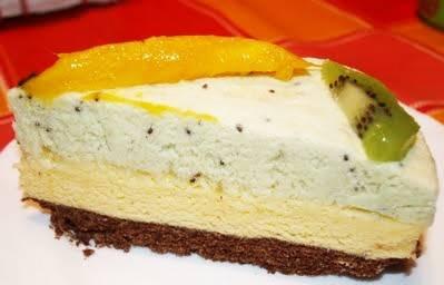 Tarta de mousse, kiwi & mango