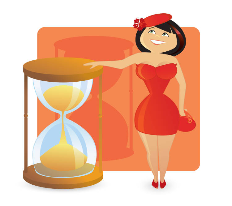 reloj de arena cuerpo mujer