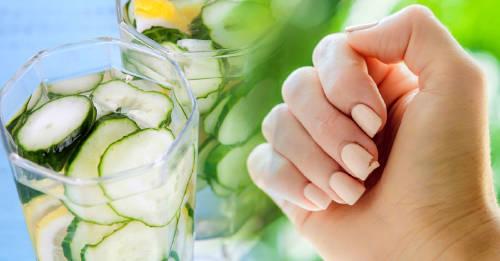 Dile adiós a las uñas quebradizas con este remedio natural de pepino