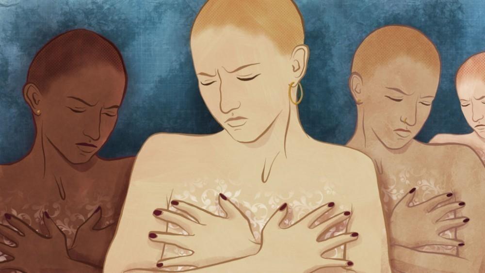 pinchazos debajo del seno derecho