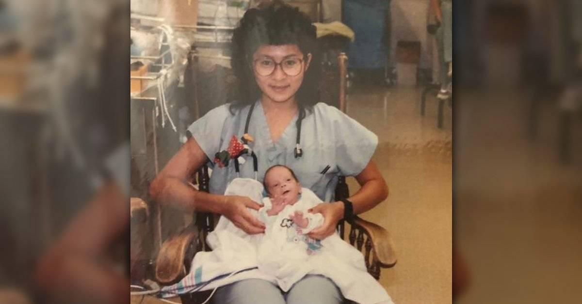 Hace 28 años una enfermera salvó a un bebé: hoy se encontraron de una forma muy especial
