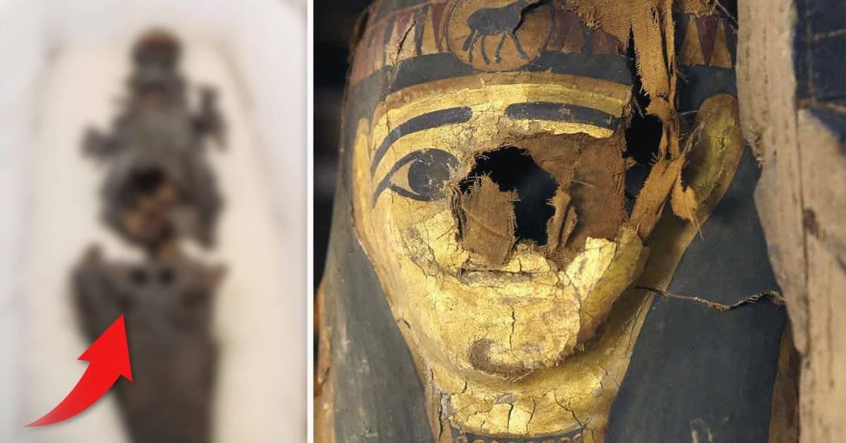 Esta momia tiene dos cabezas y fue expuesta al público por primera vez