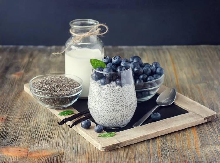 semillas de chia pudding