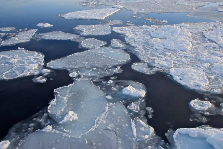 hielo derretido antartida