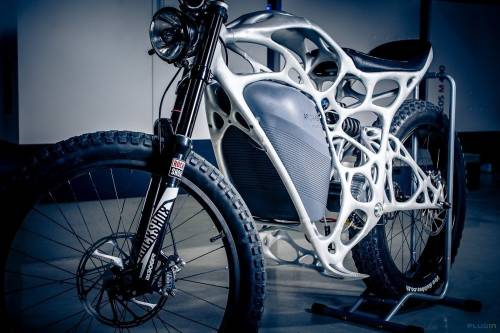 Ésta es la primera motocicleta eléctrica impresa en 3D