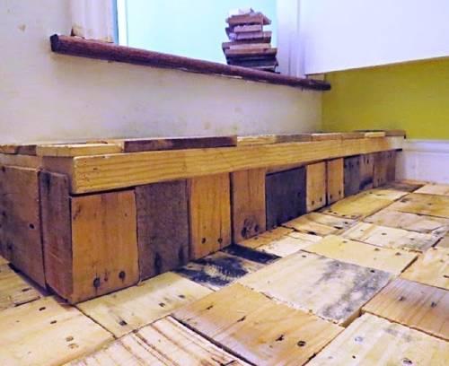 Cómo hacer un piso parquet casero, ¡reutilizando maderas!