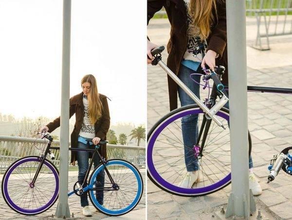 Innovación urbana: una bicicleta que es un candado