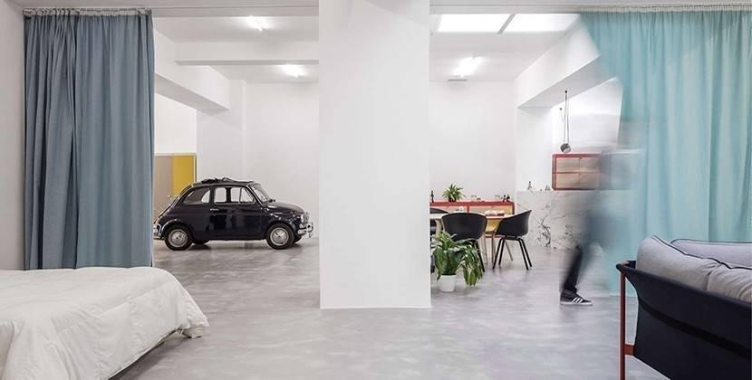 Un garaje convertido en vivienda familiar
