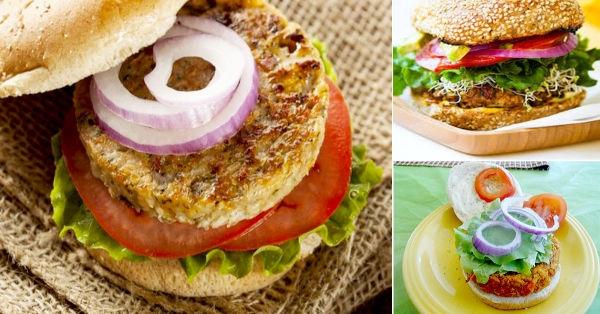 4 recetas de hamburguesas vegetarianas