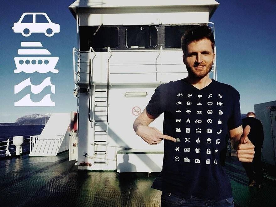 Una camiseta para viajeros que permite comunicarse en cualquier lugar del mundo