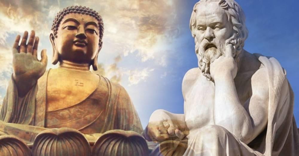 """La enseñanza de Buda y Sócrates: """"en realidad no hagas tanto caso a tus maes.."""