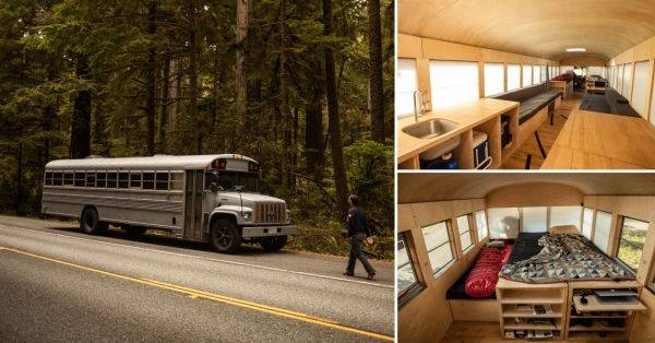 Asombrosa transformación de un autobús escolar