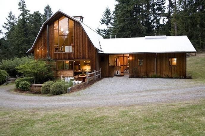 Un viejo granero convertido en una hermosa casa