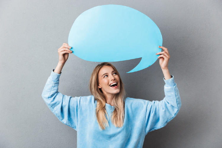 hablar globo de dialogo