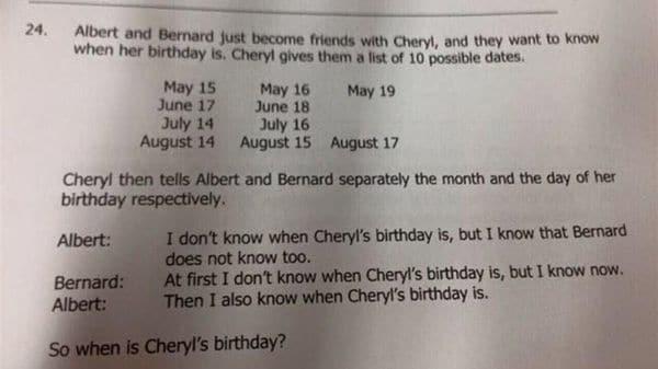 acertijo cumpleaños de cheryl