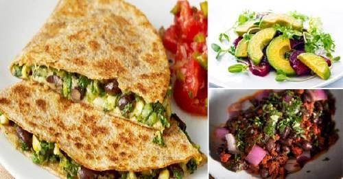 Quesadillas con cilantro y aguacate