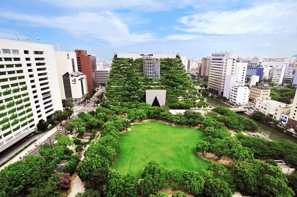 Edificios de ciudad que combinan diseño con naturaleza a la perfección