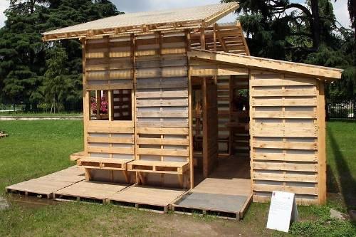 Casa hecha a partir de pallets, un diseño consciente e innovador