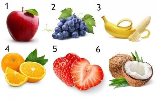Dime cuál es tu fruta favorita y te diré quién eres