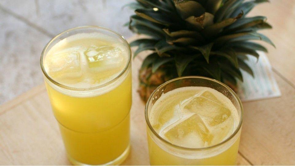 jugo de piña y jengibre para aliviar el dolor de garganta