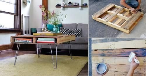 Cómo hacer una mesa de diseño a partir de pallets