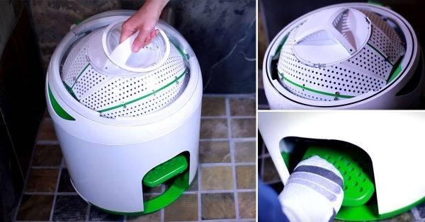 La lavadora de ropa a pedal que no necesita electricidad