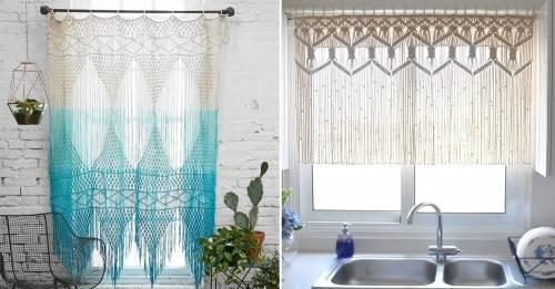 Cómo hacer tu propia cortina o tapiz colgante de macramé