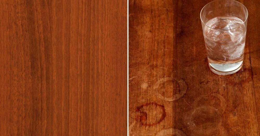 5 maneras de quitar manchas de agua de los muebles de madera