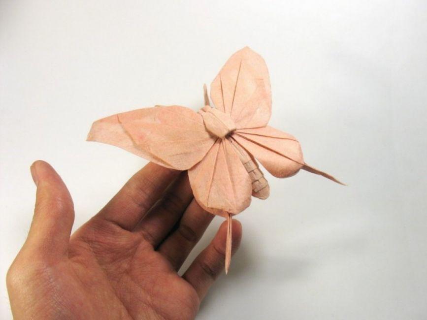 Los increíbles origamis de Nguyen Hùng Cuong- mariposa