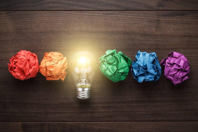 lamparita papeles colores