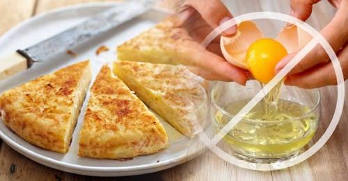 Cómo preparar una sabrosa tortilla de patatas sin huevo