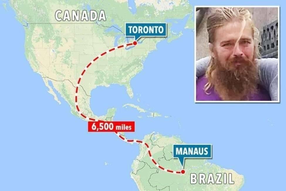 Un hombre que desapareció en Canadá hace 5 años fue hallado en el Amazonas