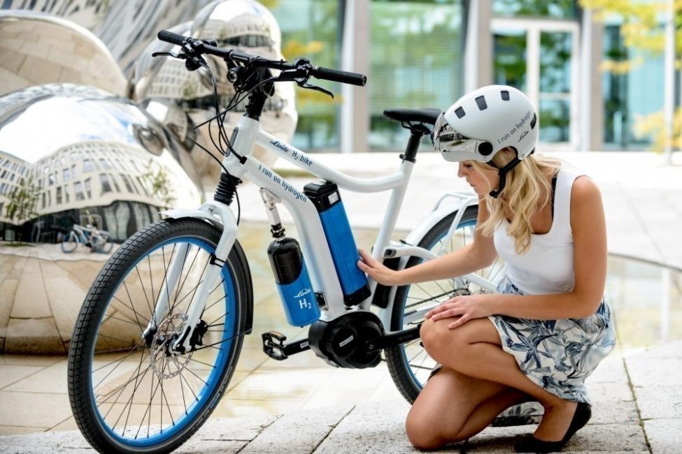 bicicleta eléctrica, ¡impulsada por hidrógeno!- prototipo