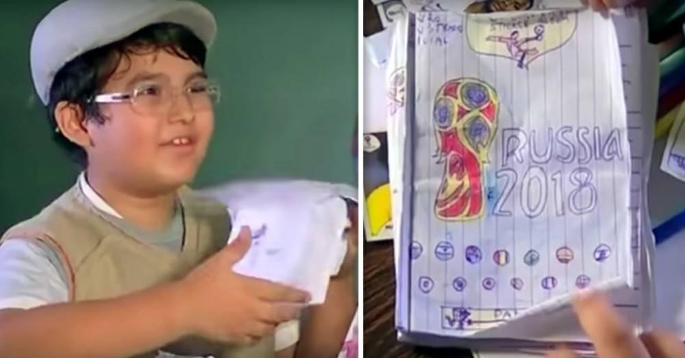 La razón por la que este niño dibujó a mano todas las figuritas del mundial..