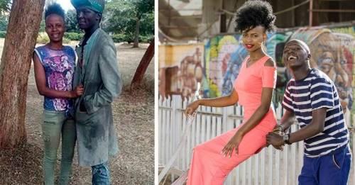 Antes y después de una pareja de vagabundos que se convirtió en modelos