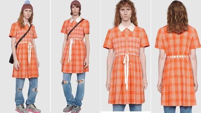 """Gucci lanza un vestido para hombres para """"romper con los estereotipos tóxicos"""""""