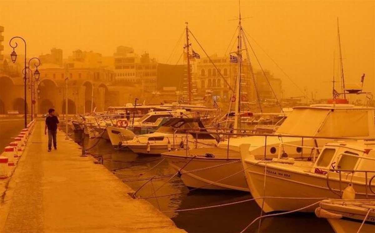 """Así fue la impresionante """"lluvia de polvo"""" que tiñó de café algunas ciudades europeas"""