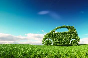 automóvil verde representa la movilidad sustentable