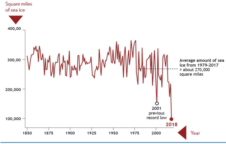 Es probable que la formación de hielo permanezca baja si continúan las temperaturas calientes en el mar de Bering