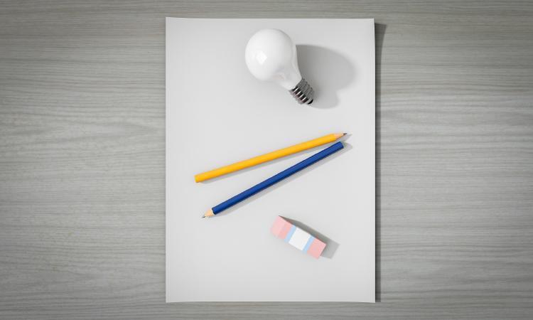 idea hoja en blanco
