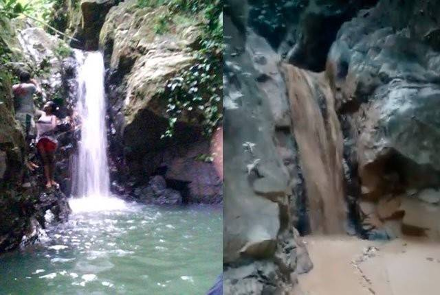 Así fue como quedó una hermosa cascada luego de ser arrasada por la minería