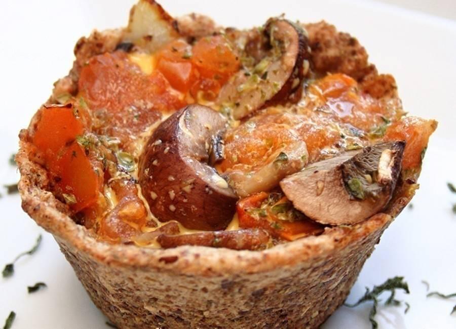 Mini tarteletas de champiñones y cebolla