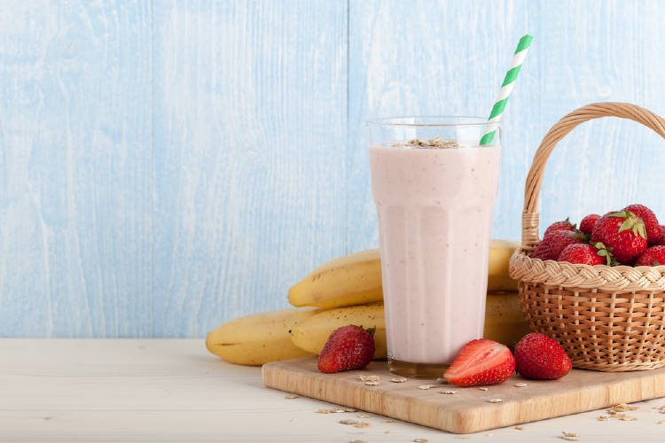 fresas banana smoothie