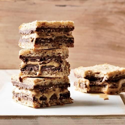 Sándwiches helados de avellana y cacao