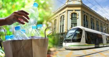el transporte publico se paga con botellas de plastico