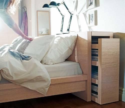 Ideas de almacenamiento oculto en habitaciones